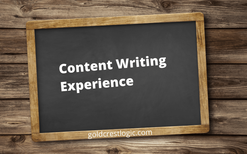 Content Writing Experience